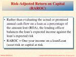 risk adjusted return on capital raroc