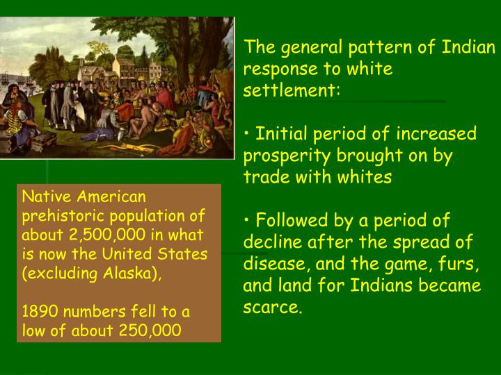 The general pattern of Indian response to white settlement: