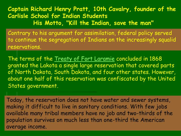 Captain Richard Henry Pratt, 10th Cavalry, founder of the Carlisle School for Indian Students