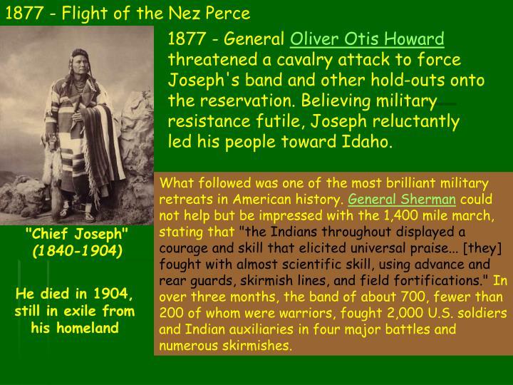 1877 - Flight of the Nez Perce