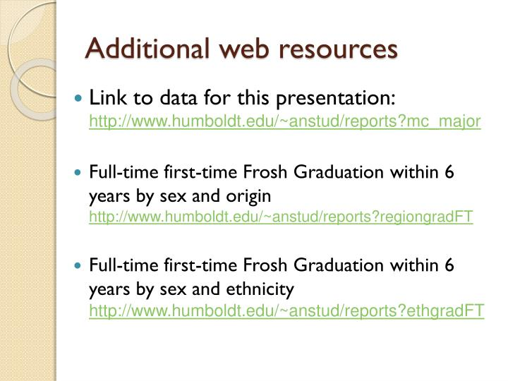 Additional web resources