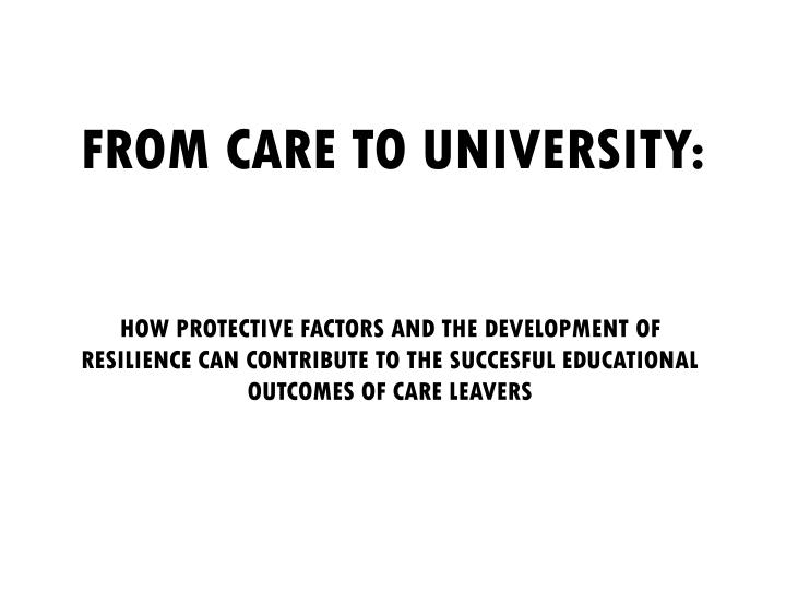 from care to university n.
