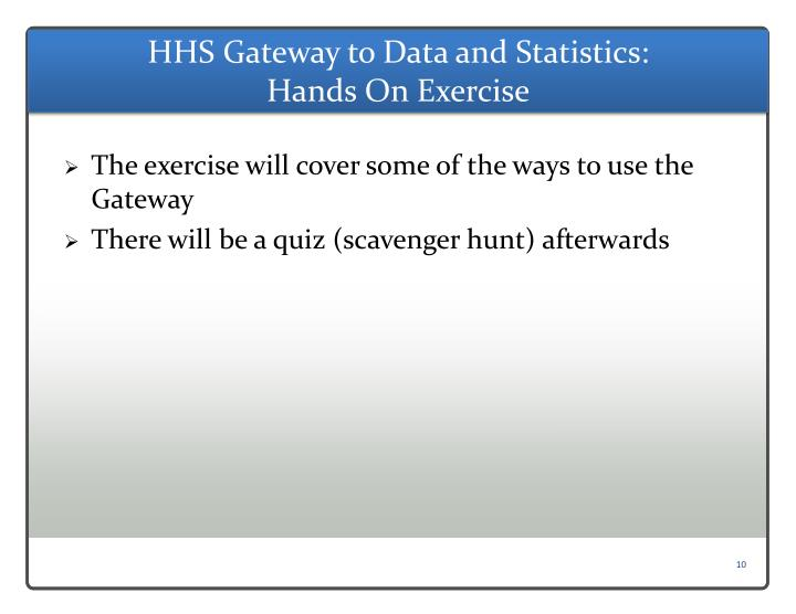 HHS Gateway to Data and Statistics:
