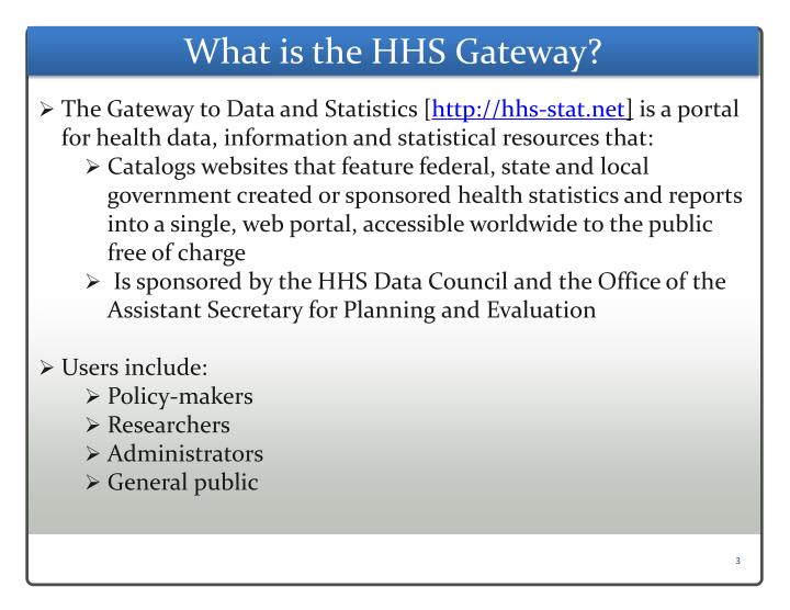 What is the hhs gateway