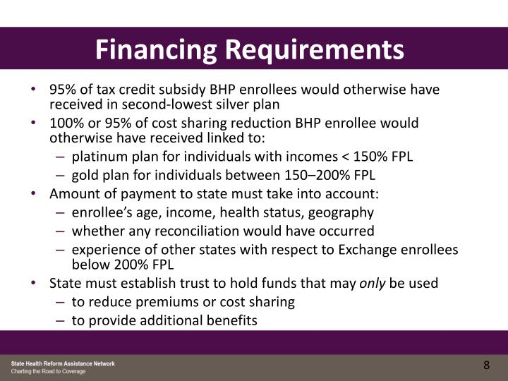 Financing Requirements