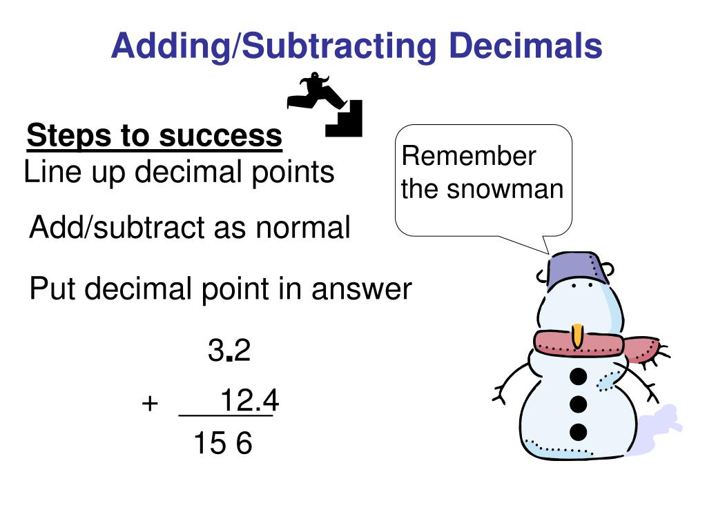 ppt - adding/subtracting decimals powerpoint presentation - id:1720864