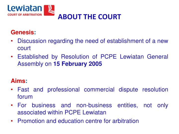About the court