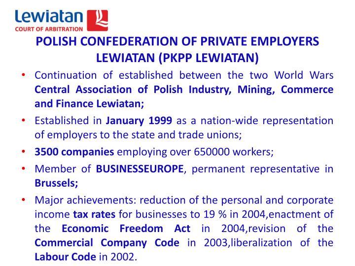 Polish confederation of private employers lewiatan pkpp lewiatan