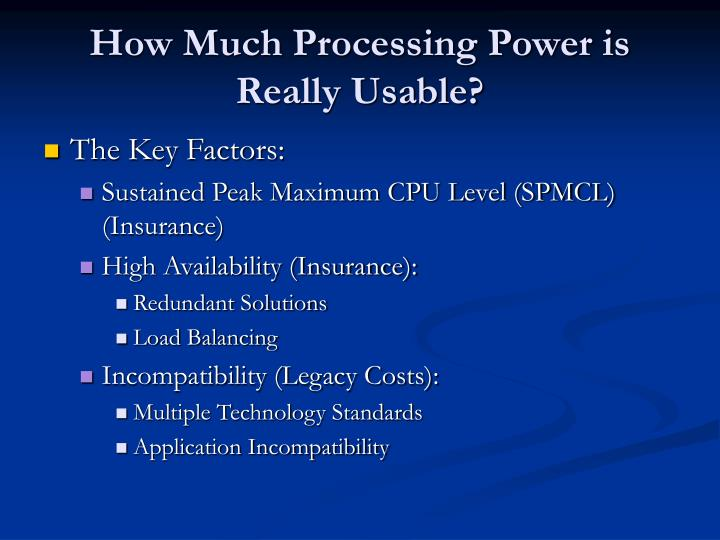 How Much Processing Power is Really Usable?