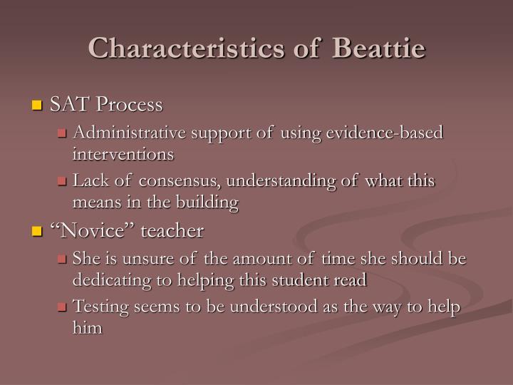 Characteristics of beattie
