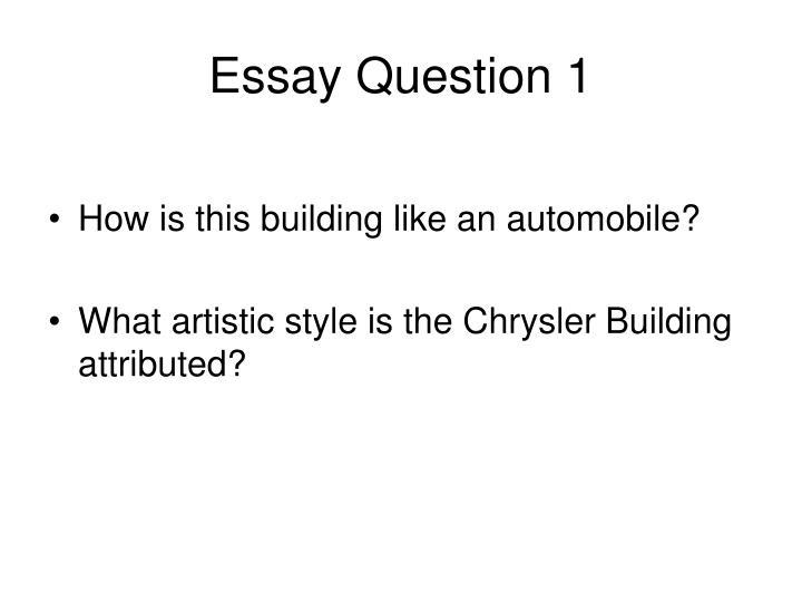 Essay Question 1
