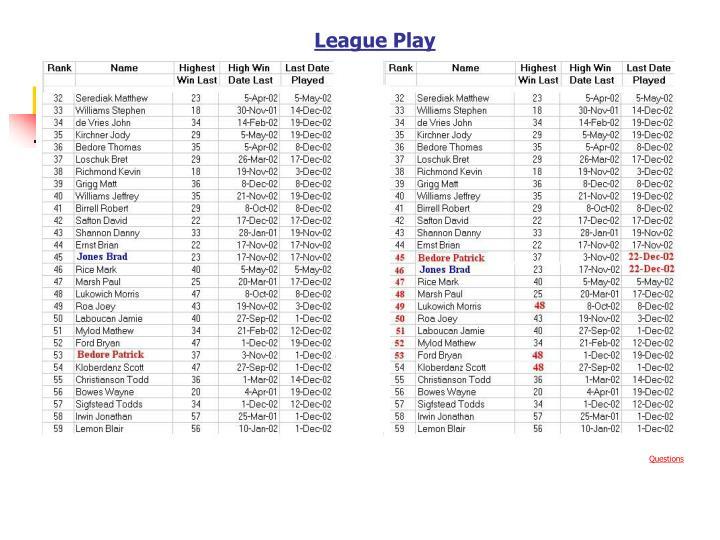 League Play