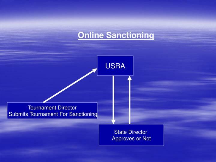 Online Sanctioning