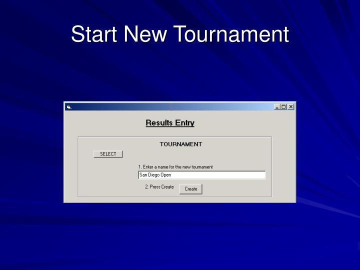 Start New Tournament