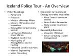 iceland policy tour an overview