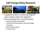 uaf energy policy research