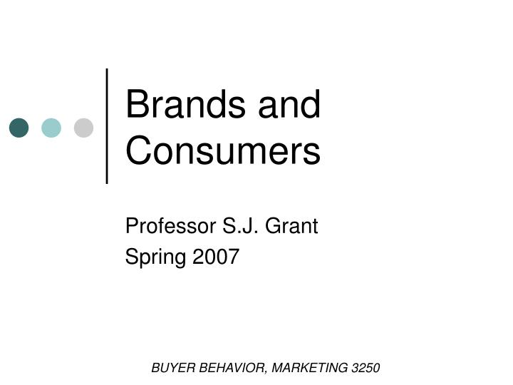 brands and consumers n.