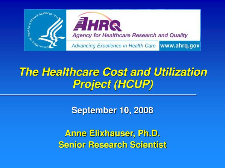 the healthcare cost and utilization project hcup n.