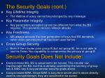 the security goals cont