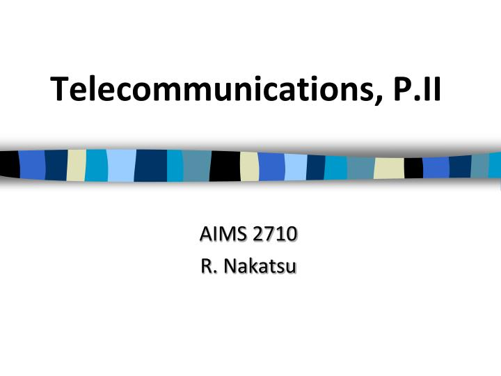 telecommunications p ii n.