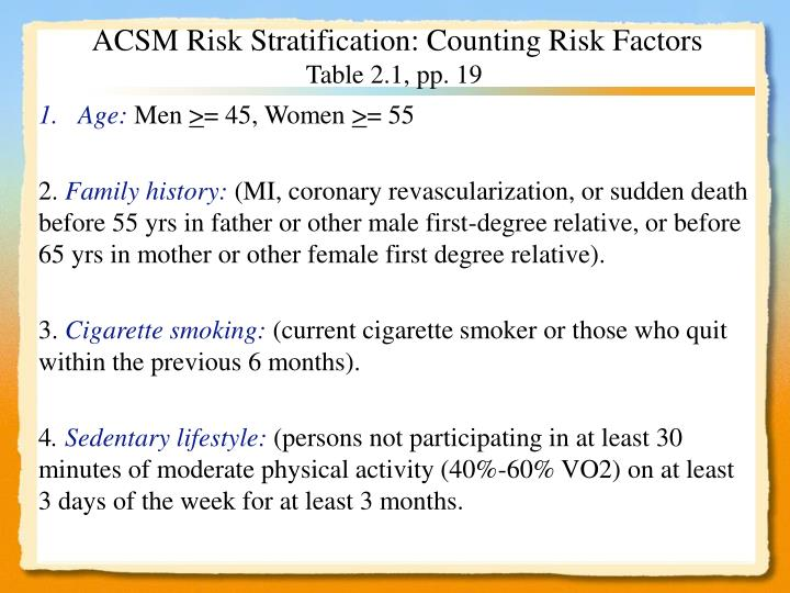 ppt chapter 2 3 health appraisal pre assessment screening risk