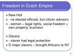 freedom in dutch empire