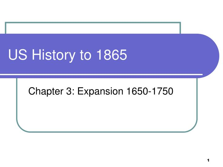us history to 1865 n.