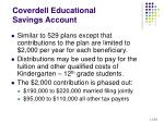 coverdell educational savings account