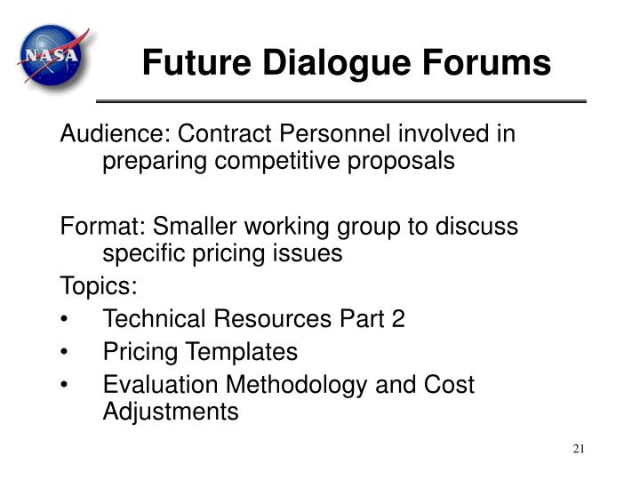 Future Dialogue Forums