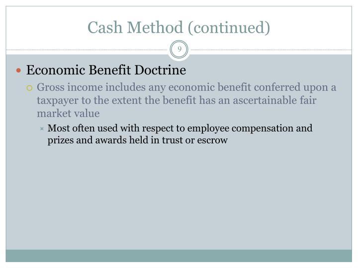 Cash Method