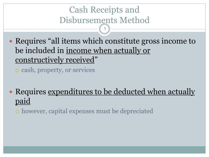 Cash Receipts and