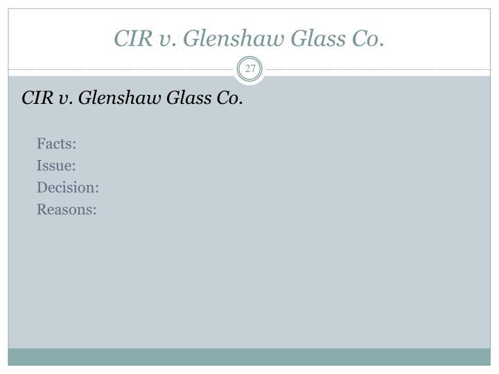 CIR v. Glenshaw Glass Co.