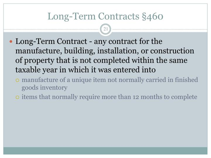 Long-Term Contracts §460