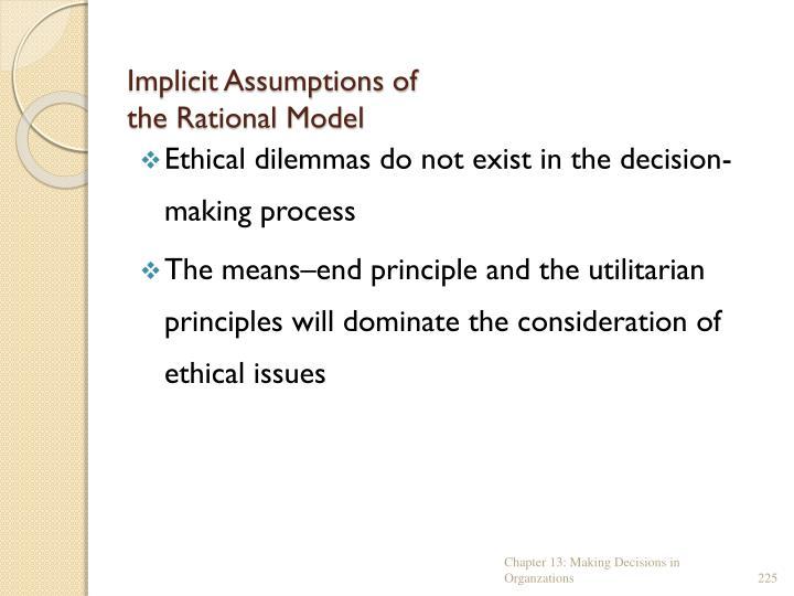 Implicit Assumptions of