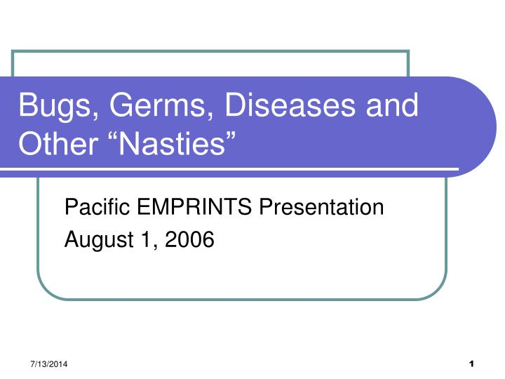 bugs germs diseases and other nasties n.