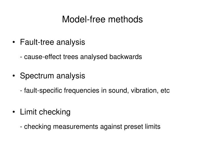 Model-free methods