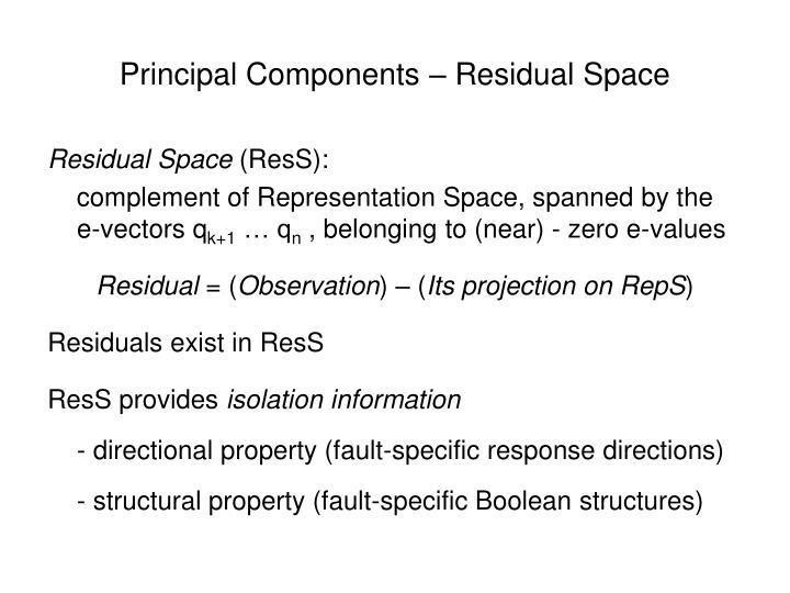 Principal Components – Residual Space