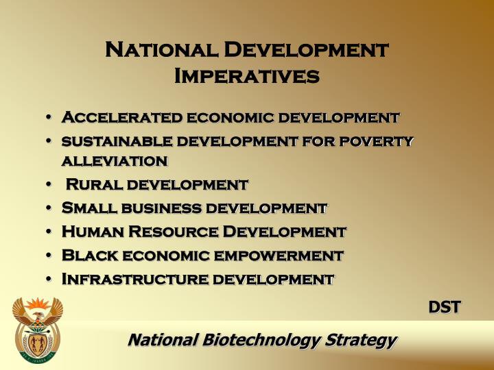 National Development Imperatives