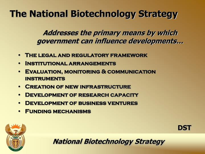 The National Biotechnology Strategy