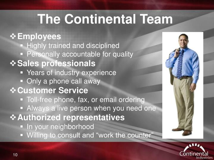 The Continental Team