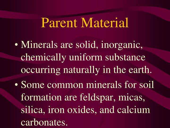 Parent Material