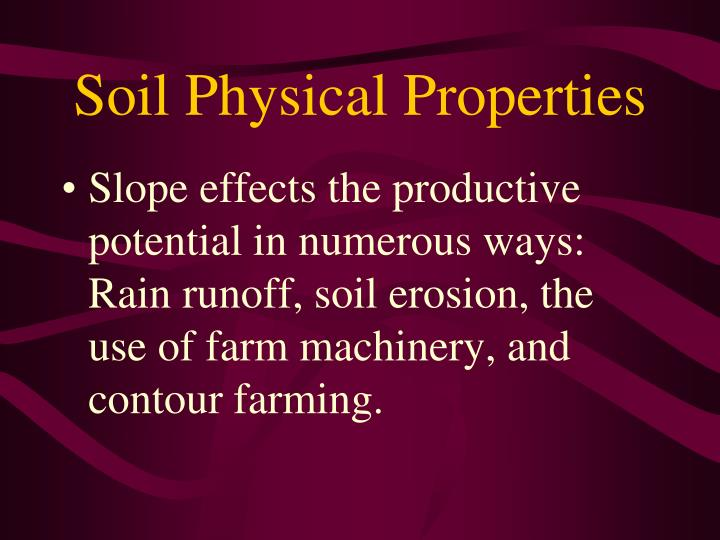 Soil physical properties1