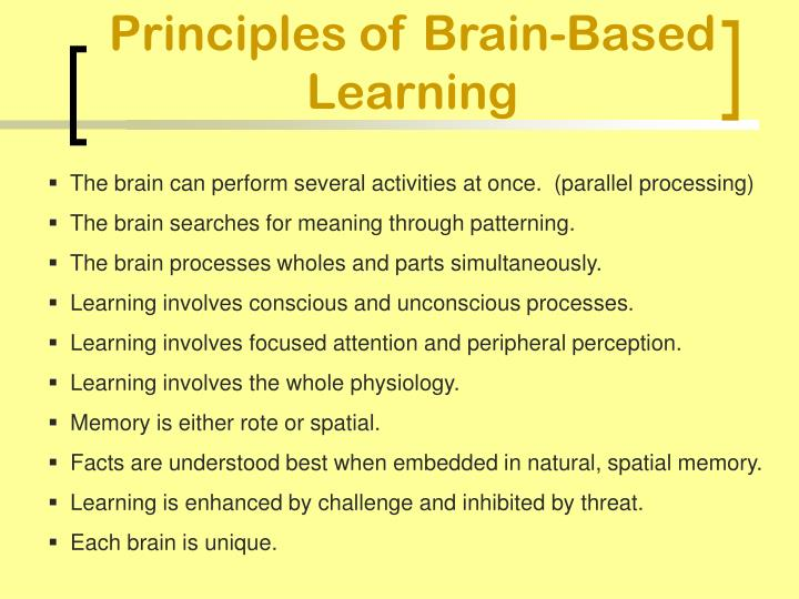 Principles of Brain-Based Learning