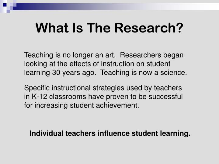 What Is The Research?