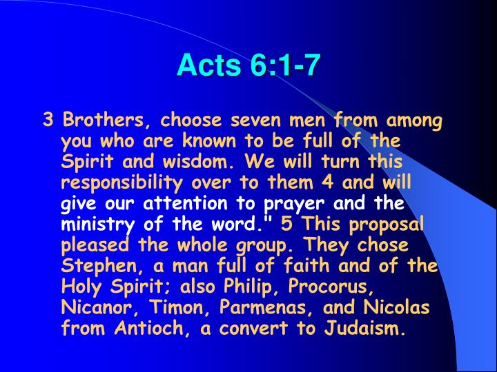Acts 6:1-7