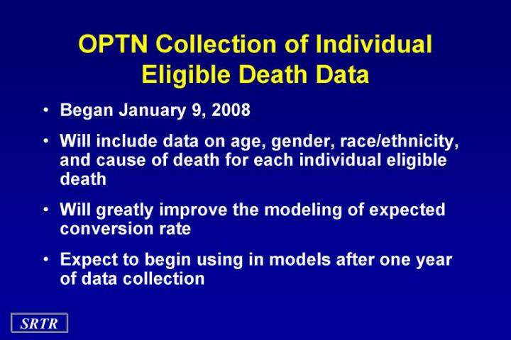OPTN Collection of Individual Eligible Death Data