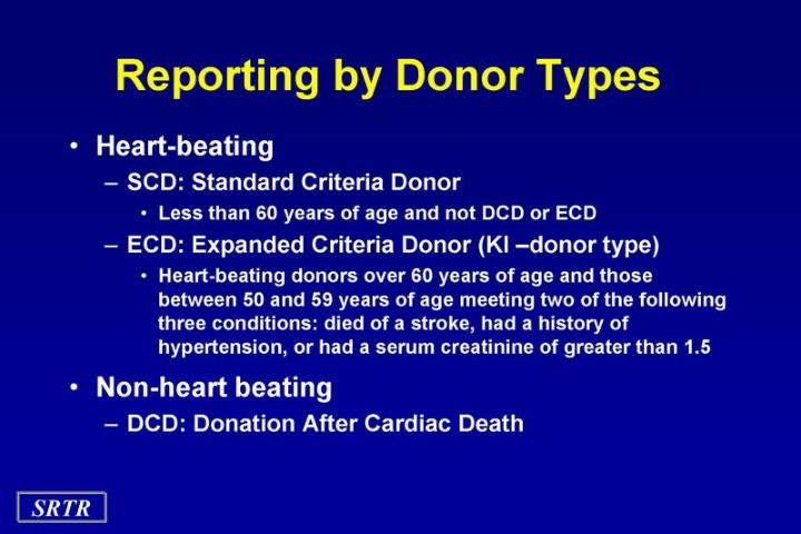 Reporting by Donor Types