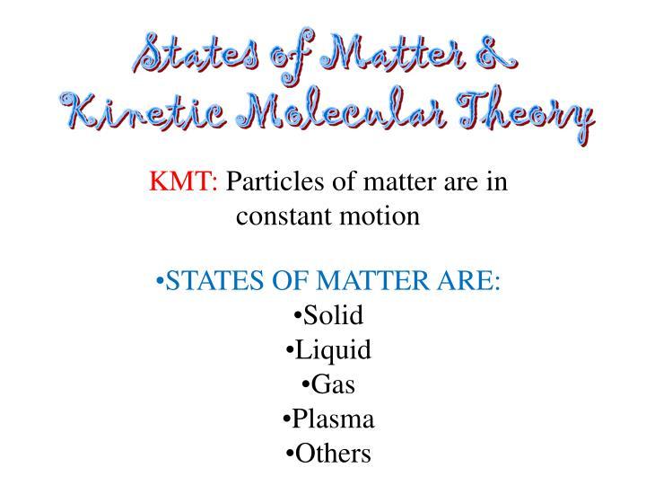 States of Matter &