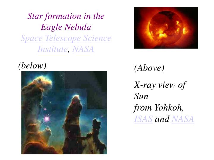 Star formation in the Eagle Nebula