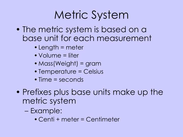 Metric system1